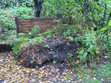Komposthaufen von 2006 im Oktober 2007