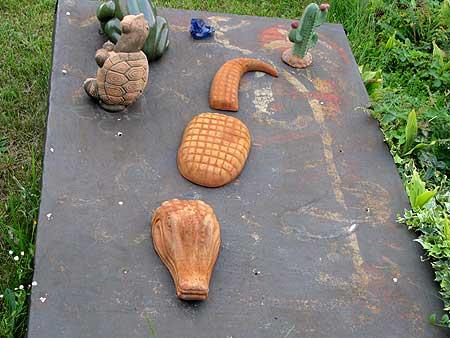 Gartenskulptur: Krokodil