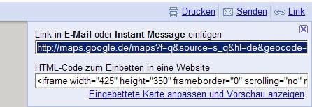 Google-Map Einbinde-Codes