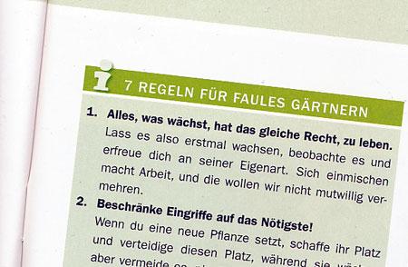 Sieben Regeln für faules Gärtnern