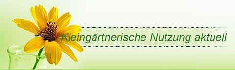 Banner kleingärtnerische Nutzung aktuell