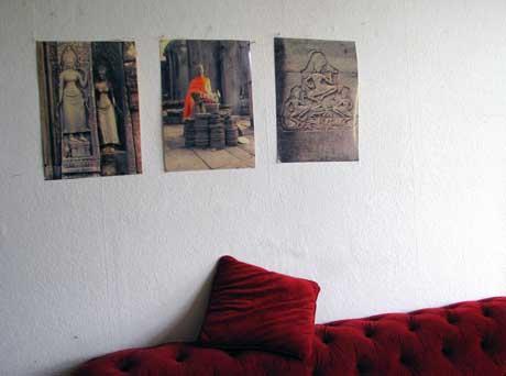 Fotos überm Sofa