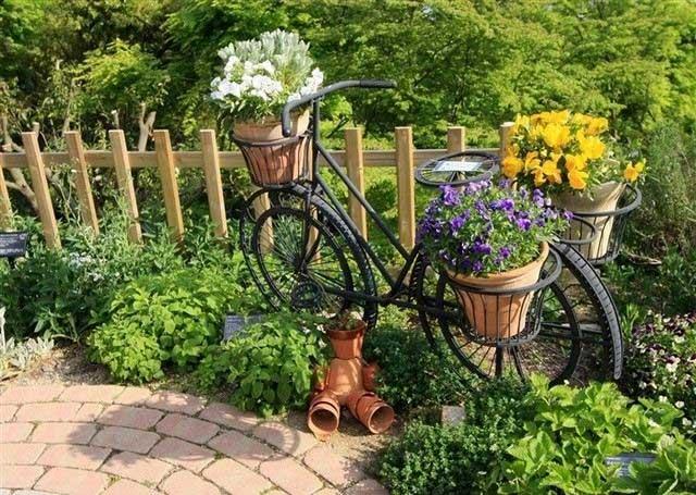 Fahrrad als Deko