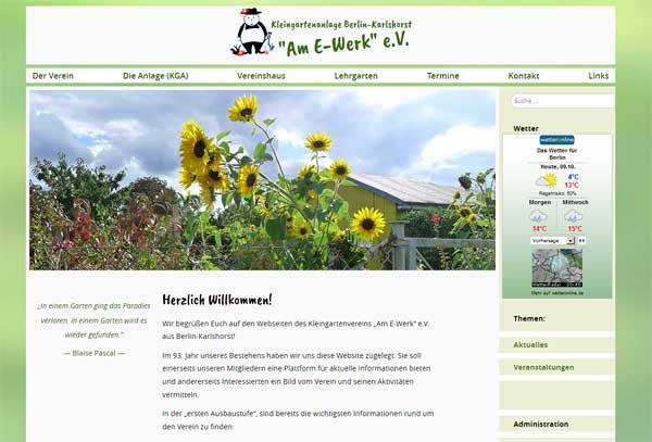 Homepage KGA Am E-Werk